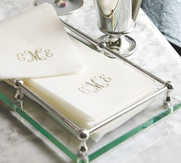 Monogrammed Linen Like Disposable Guest Towels