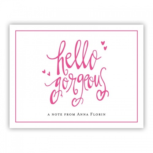 Personalized Folded Note Cards Hello Gorgeous - Boatman Geller