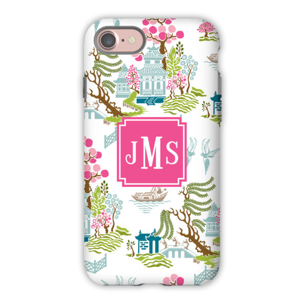 Monogram iPhone X Case – Chinoiserie Spring by Boatman Geller