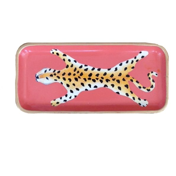 Orange Leopard Tray Small - Dana Gibson