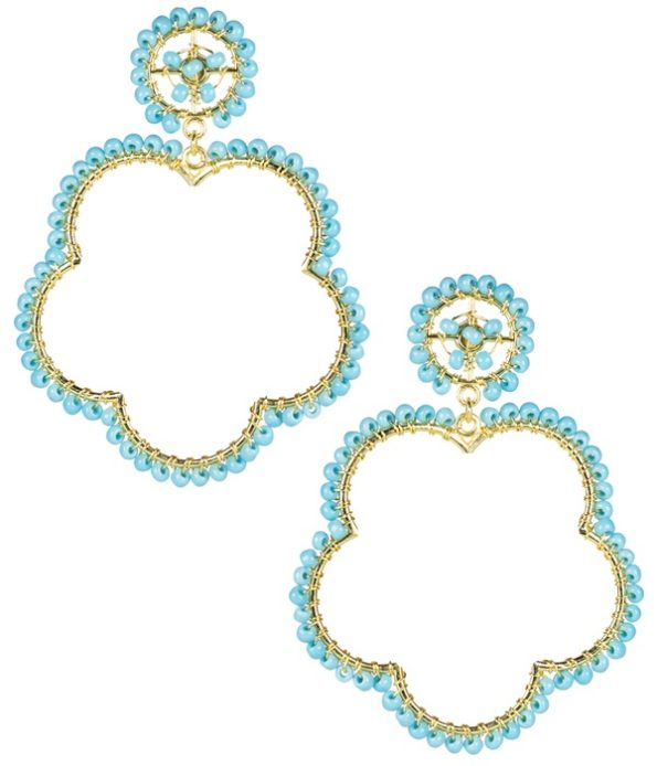 Bobbi Earrings Turquoise - Lisi Lerch
