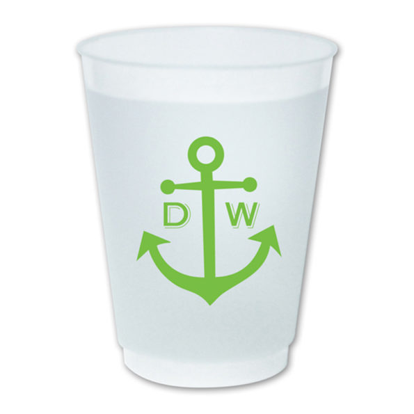 Monogram Frost Flex Cups - Dabney Lee - Green Anchor