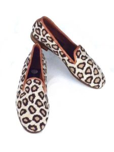 Leopard Ladies Needlepoint Loafer