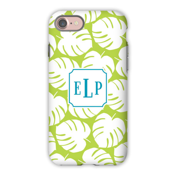 35619bbee1585 Monogram iPhone X Case - Palm Lime - Boatman Geller