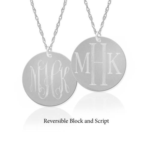 Dual Engraved Monogram Necklace - Jane Basch