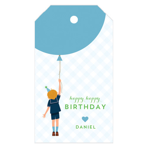 Monogram Gift Tag Birthday Boy - WH Hostess