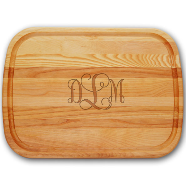 Script Monogram Wood Cutting Board