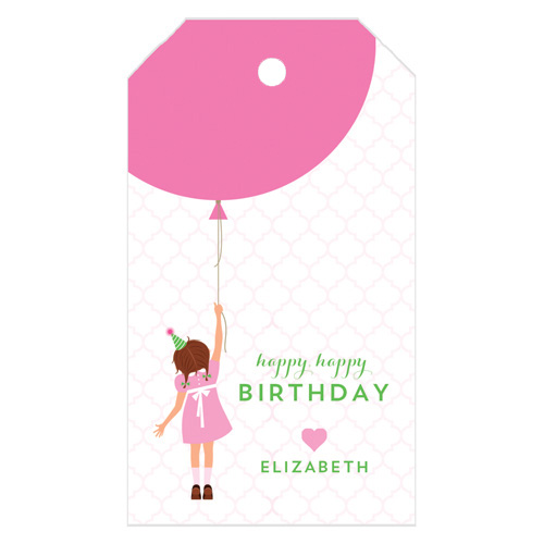 Monogram Gift Tag Birthday Girl - WH Hostess