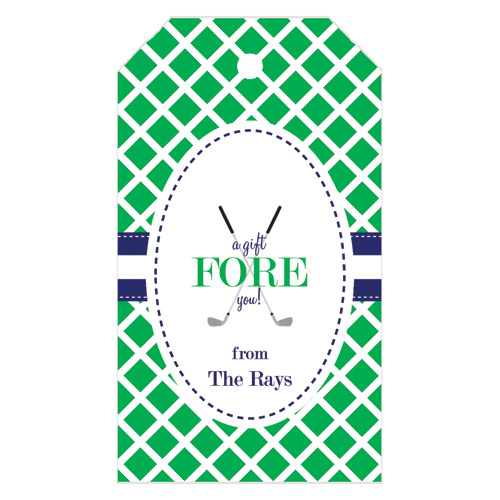 Monogram Gift Tag Golf - WH Hostess