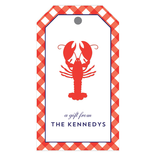 Monogram Gift Tag Lobster - WH Hostess