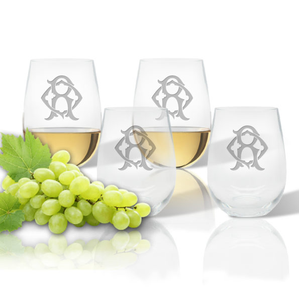 Monogram Chic Stemless Wine (Unbreakable Acrylic) Set of 4