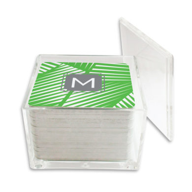Monogram Paper Drink Coasters