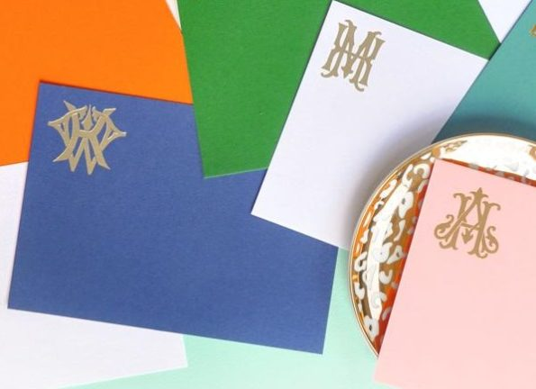 Monogrammed Flat Note Cards - Emily McCarthy