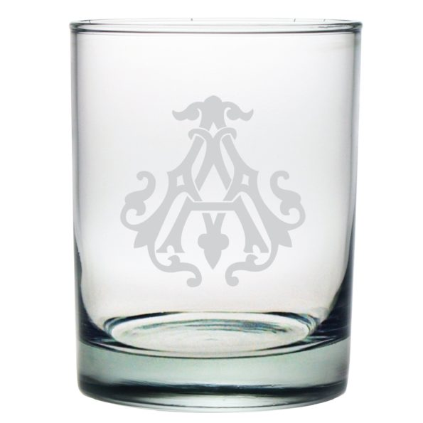 Single Letter Monogrammed Double Old Fashioned Set/4 - Emily McCarthy