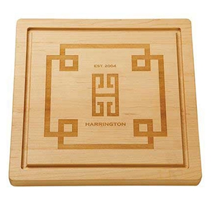 Monogrammed Square Cutting Board - Emily McCarthy