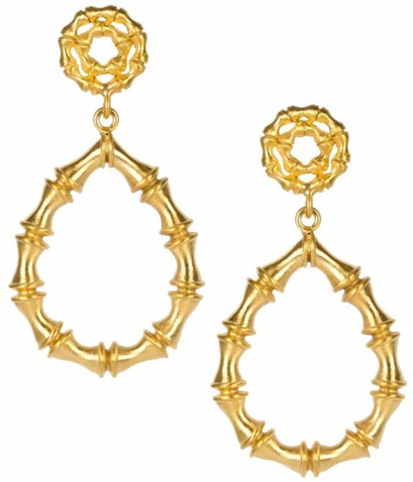 Bamboo Kate Earring - Gold - Lisi Lerch