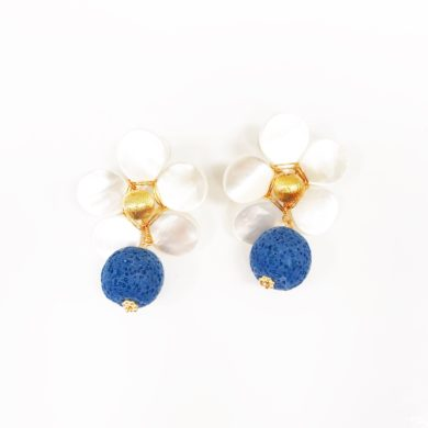 Crawford Earring White - Hazen & Co