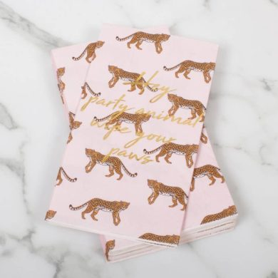Wipe Your Paws Party Animals Guest Towels