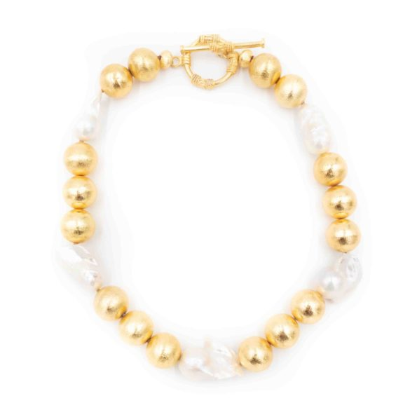 Annabelle Necklace - White Pearl - Hazen & Co.