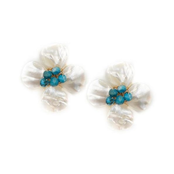 Poppy Earrings Turquoise - Hazen & Co.