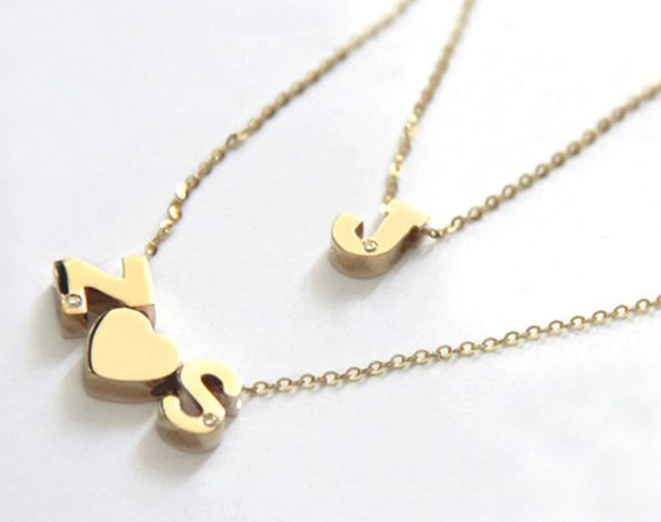 14K Block Initial with Diamond Accent Necklace - Jane Basch