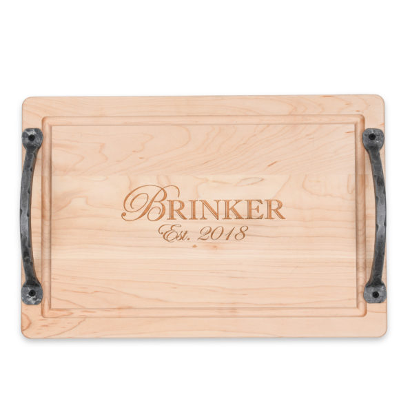 Personalized Rectangular Cutting Board with Handles
