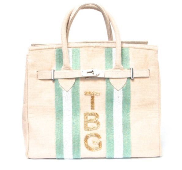 Jane Bag - Double Racing Stripe + Initials
