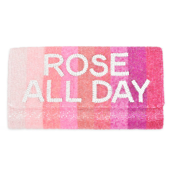 Rose All Day Pink Ombre Stripe Clutch