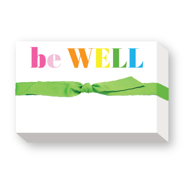 be WELL Big and Bold Notepad - Donovan Designs