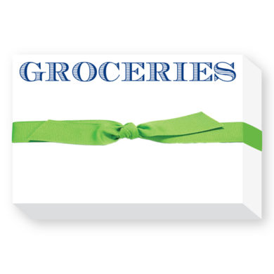 GROCERIES Big and Bold Notepad - Donovan Designs