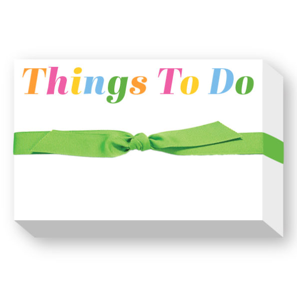 Things To Do Big and Bold Notepad - Donovan Designs