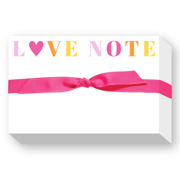 LOVE NOTE Big and Bold Notepad - Donovan Designs