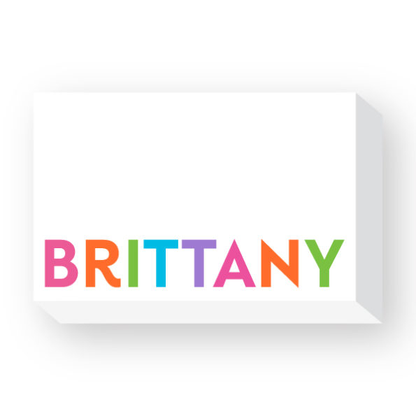 Personalized Multicolor Big and Bold Notepad - Donovan Designs