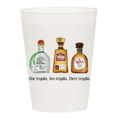 One Tequila Two Tequila Frost Flex Cups - Sip Hip Hooray